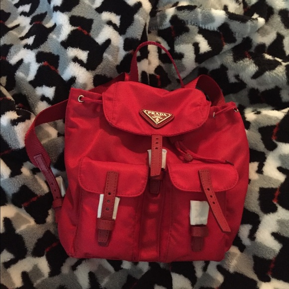 e05d02451bda Prada Bags | Bnwt Authentic Vela Mini Crossbody In Red | Poshmark